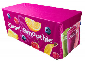 Planet Smoothie Branded Fitted Table Cover